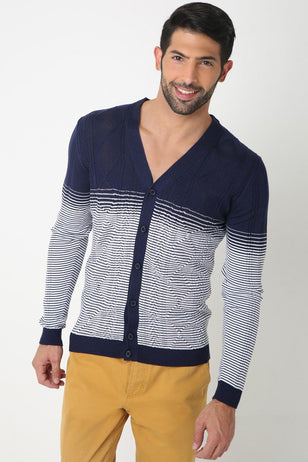 Blue Gradient Pullover for Men