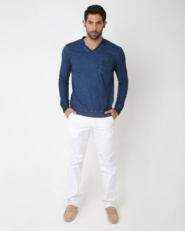 Casual Indigo T-Shirt for Men
