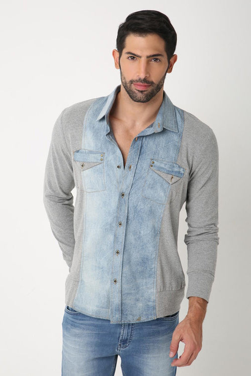 Denim Jersey Shirt