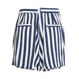 Blue Stripes Shorts for Women (White)