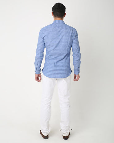 Blue Dotted Shirt