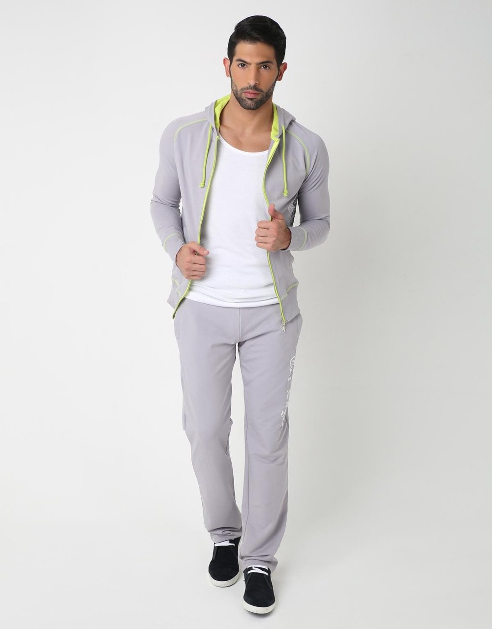 Tri Color Tracksuit for Men (Grey)