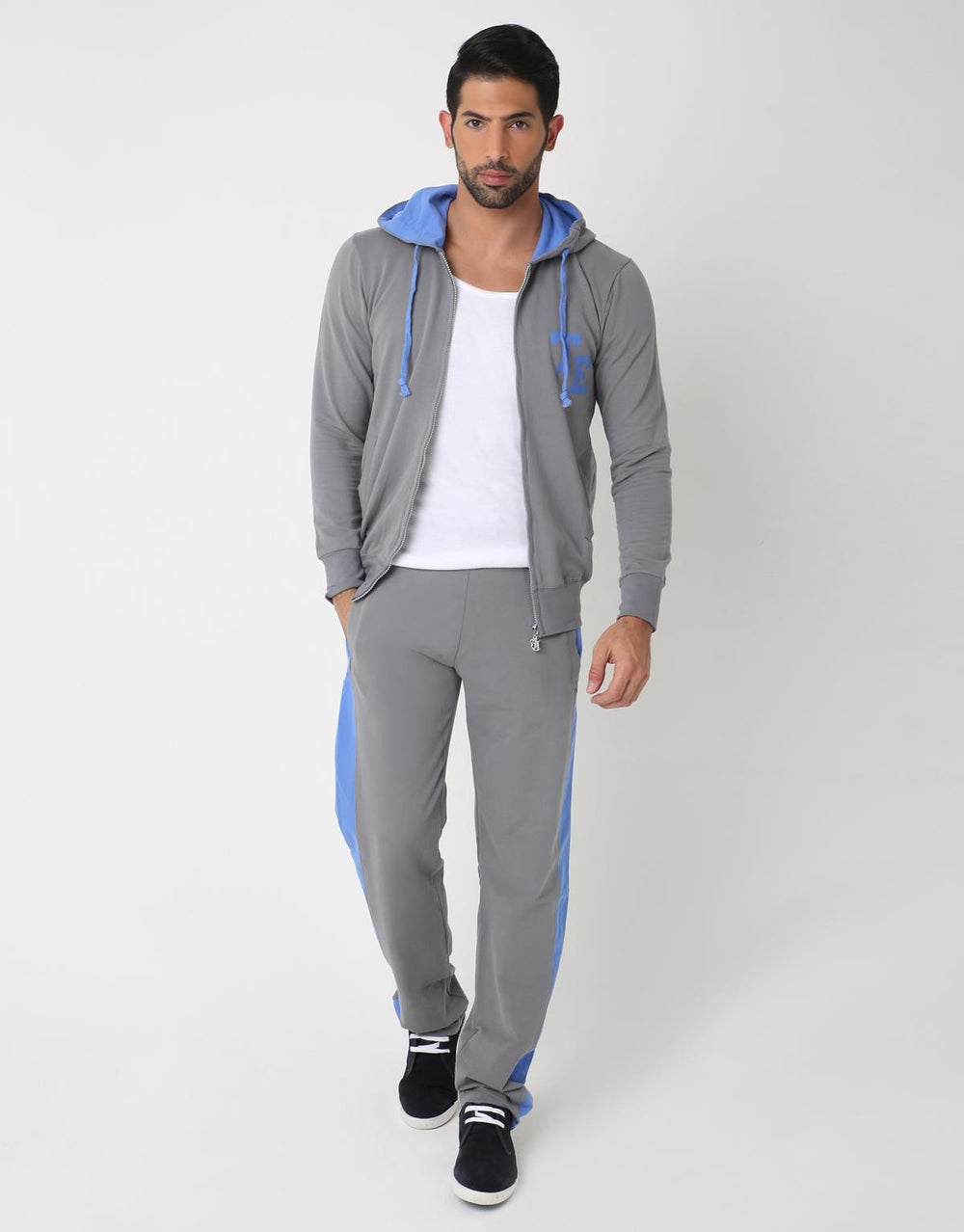 Bi Color Street Suit- Upper, GREY