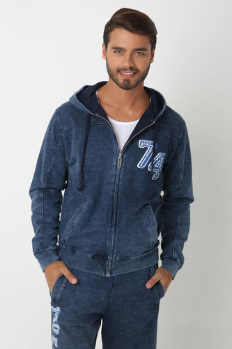 Randum Blue Chic Sweatshirt for Men