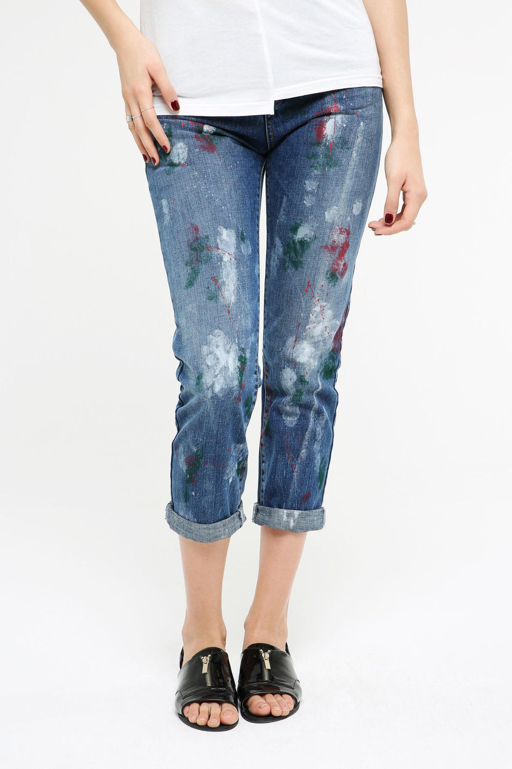 Printed Straight-Leg Jeans for Women