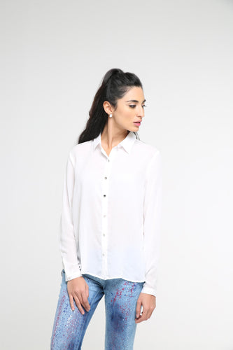 Classic Blouse With Open Back