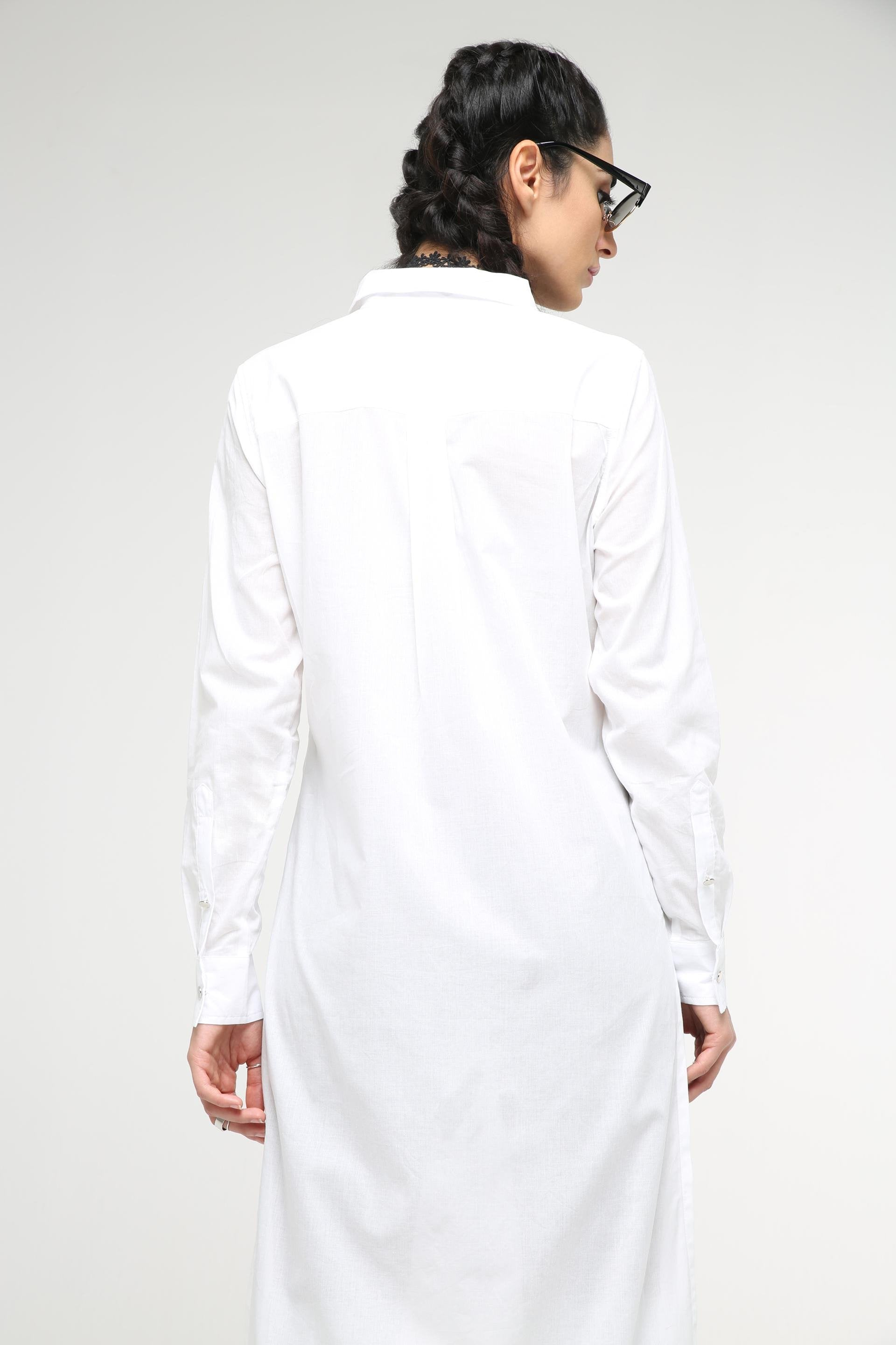 Long Shirt with Side Slits