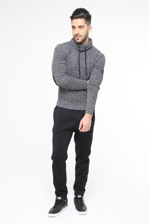 Turtleneck Sweater, GREY