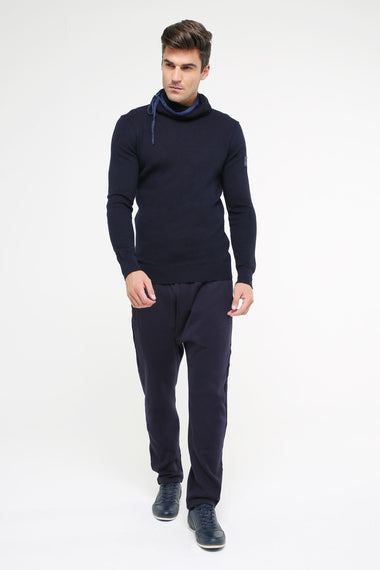 Rollneck sweater, NAVY