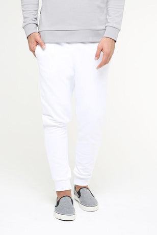 Cuffed sweatpants, WHITE