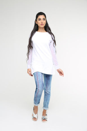 Sports Sweatshirt With Mesh Sleeves