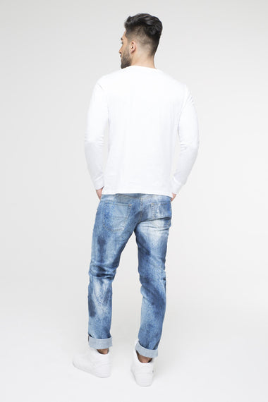 Splattered Paint Jeans for Men
