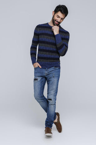 Trichromatic Pullover , Navy