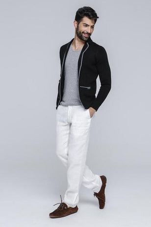 Dual Tone Casual Cardigan For Men