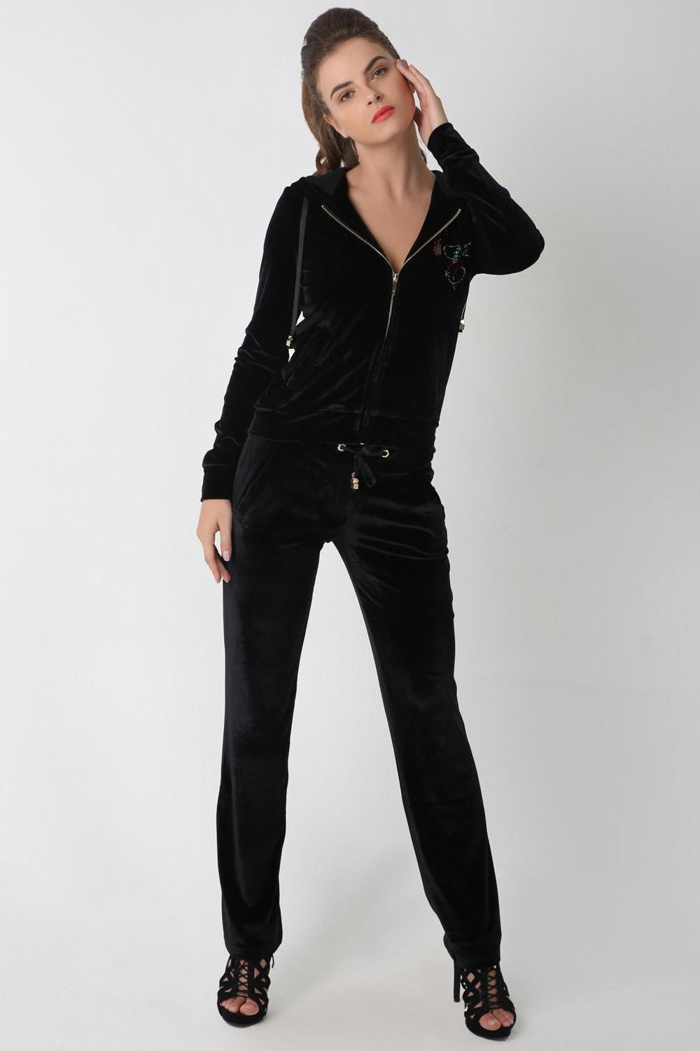 UAE Embellished Tracksuit, Black