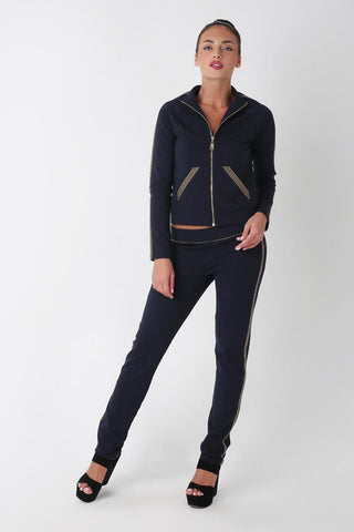 Glamourai Suit With Studs, NAVY