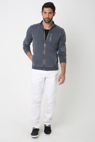 Grey Zip-Up Jacket, GREY