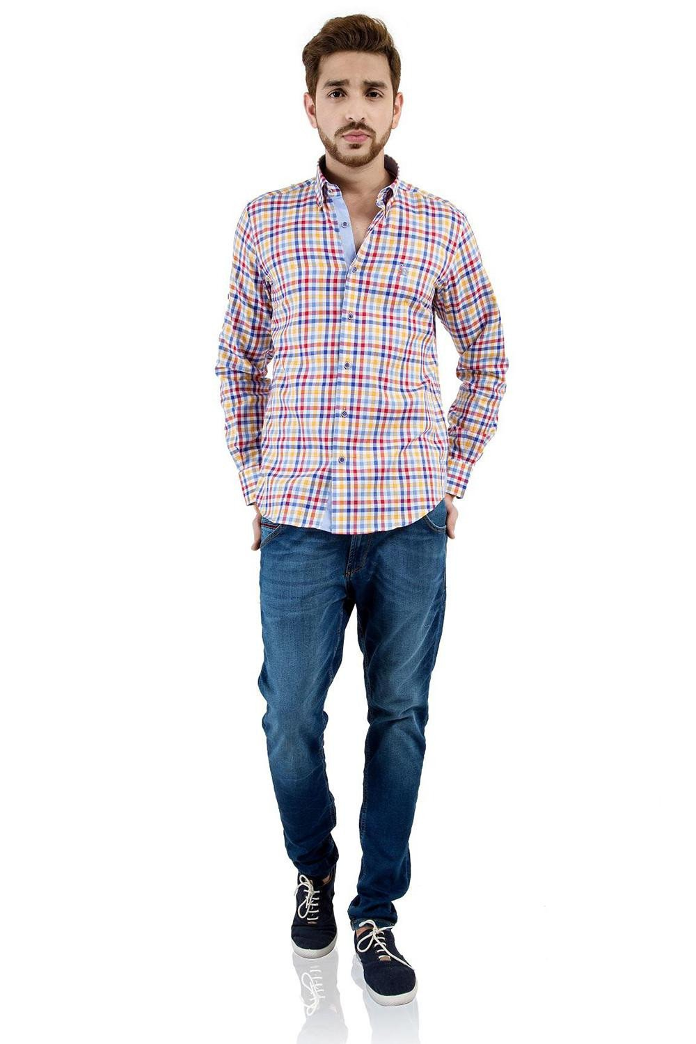 Colored Checkered Shirt, Multichecks