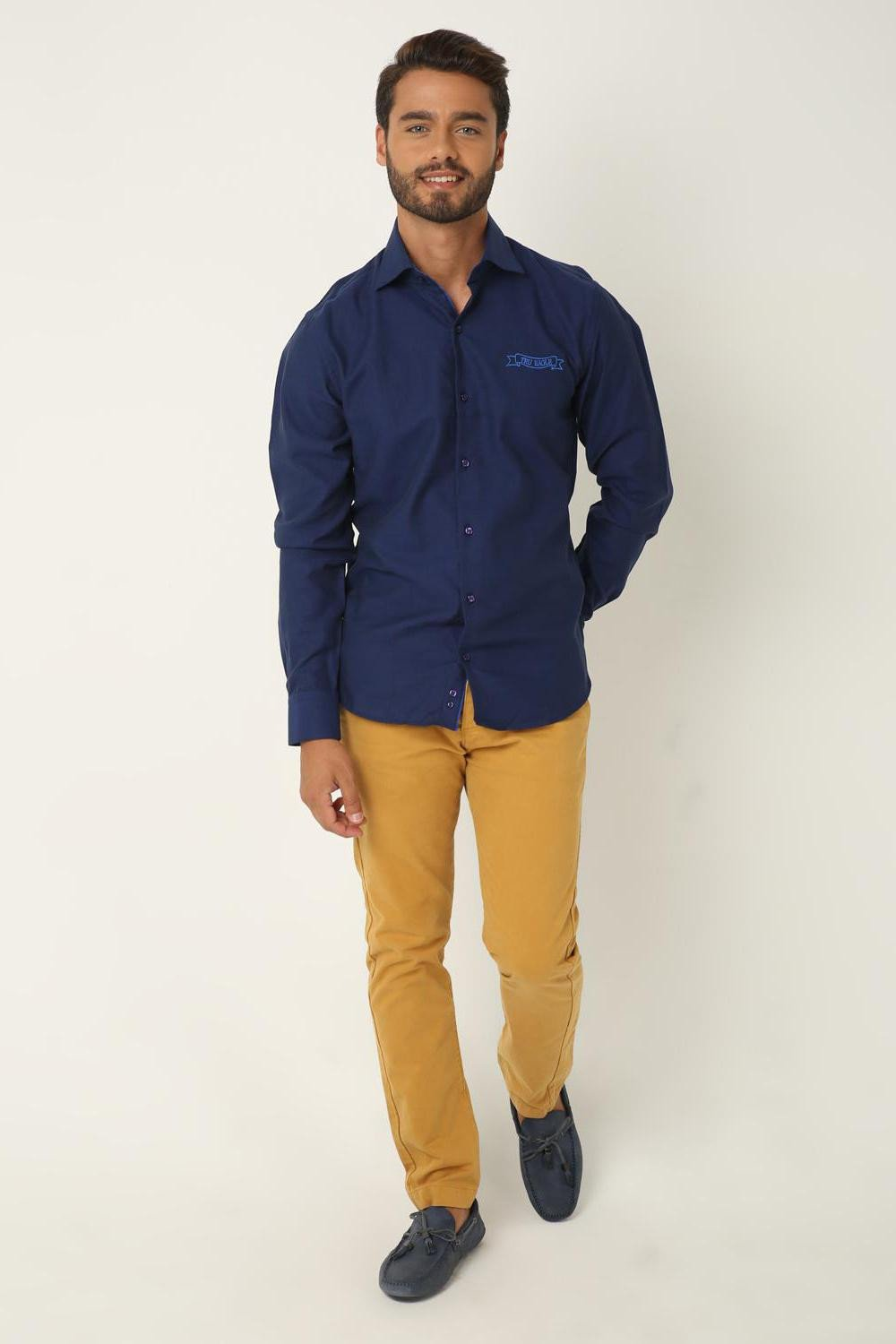 Navy Blue Cotton Shirt, SAX