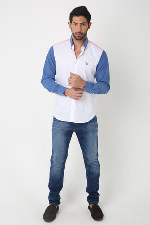 Triune Colored Shirt, WHITE