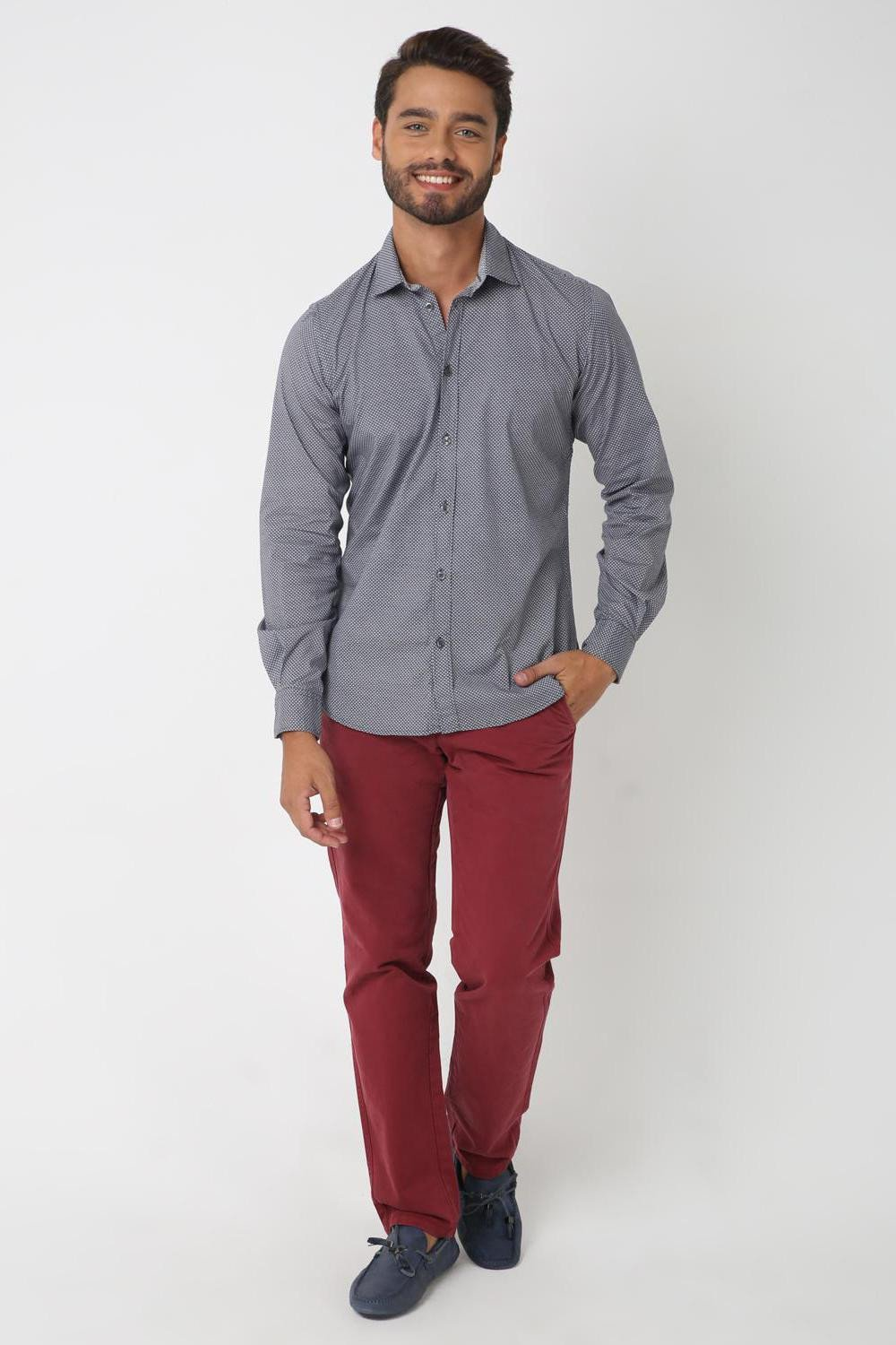Grey Illusion Shirt, GREY