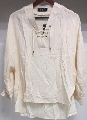 Linen Solid Color Shirt Woven (White)