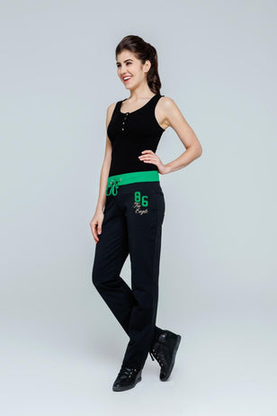 86 Dual Color Sweat Pants (Black)