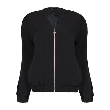 Zipped Bomber Jacket for Women