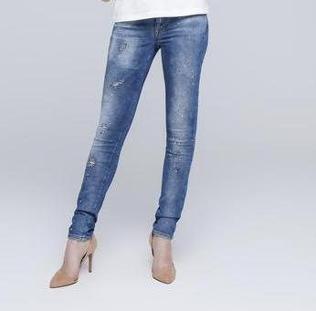 Glitzy Skinny Slim Fit Jeans for Women