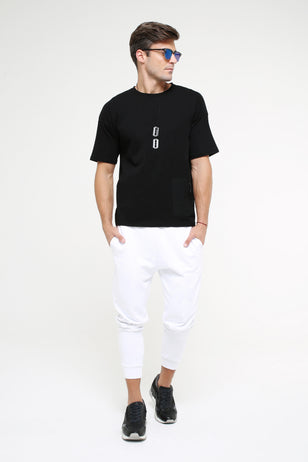 Round Neck T-Shirt With Zip Pocket