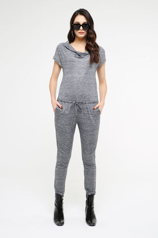 Silver Drawstring Jumpsuit for Women