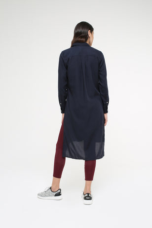 Long Shirt With Side Slits for Women