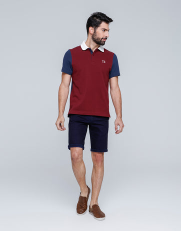 Tricolor Lounge Polo for Men