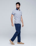 Dual Tone Polo T-Shirt for Men