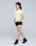 Checkered Collar Polo for Women