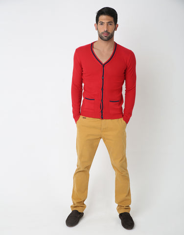 Contrast Cardigan for Men