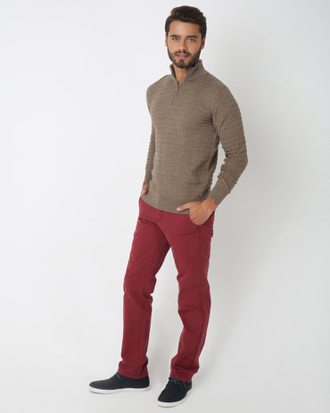Polo Neck Pullover for Men