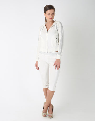 Embellished 3/4th Tracksuit for Women