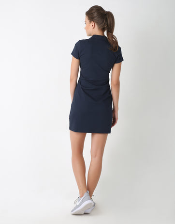 Cotton Uni Color Casual Dress for Women