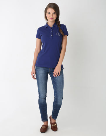 Embellished TE Polo T-Shirt for Women
