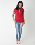 Cotton Crest Polo T-Shirt for Women