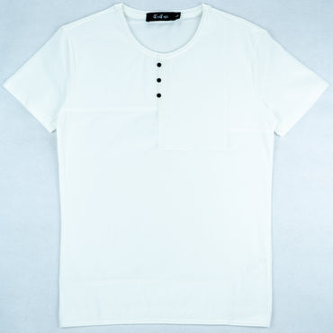 Solid Button T-shirt