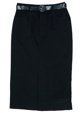 Solid Pencil Formal Skirt