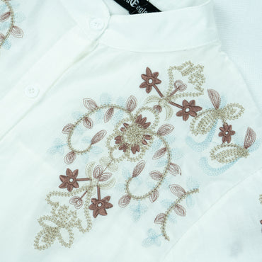 All EMBROIDERED A-LINE Shirt