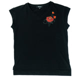 Embroidered Flower Tee for Women