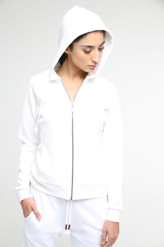 Double Faced Hooded Sweatshirt for Women