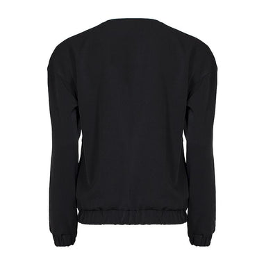 Back Zipped  Bomber Jacket for Women (Black)