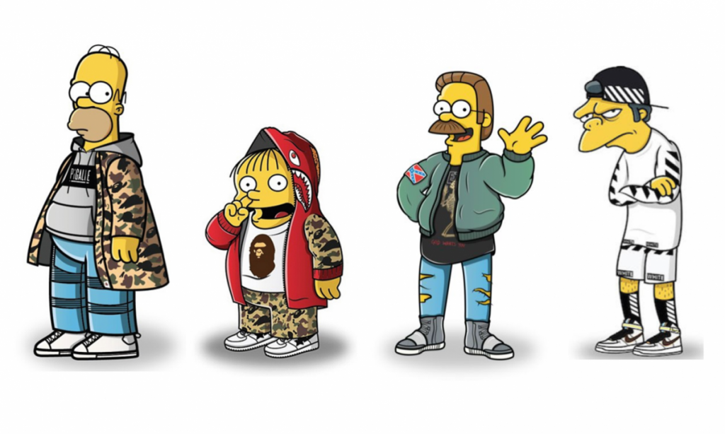 the simpsons in streetwear fashion clothing