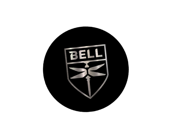 Bell Round Decal-4""
