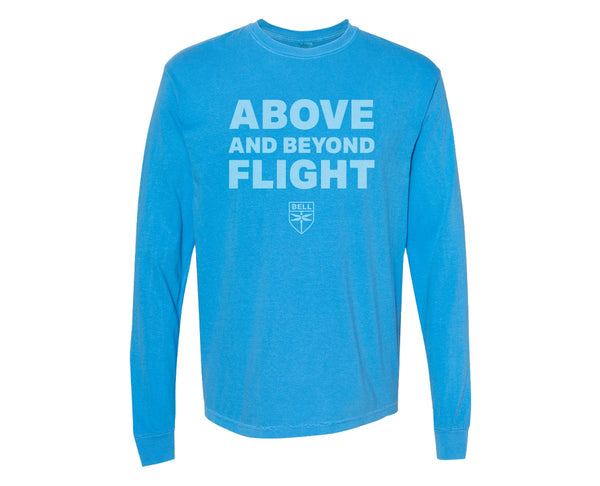 Above and Beyond Flight Heavyweight Ring Spun Long Sleeve Tee